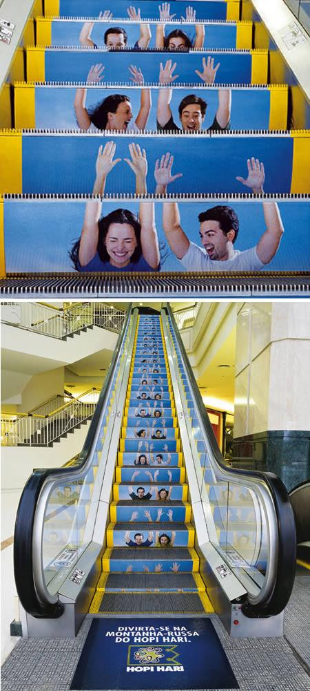 十大创意扶梯广告图片