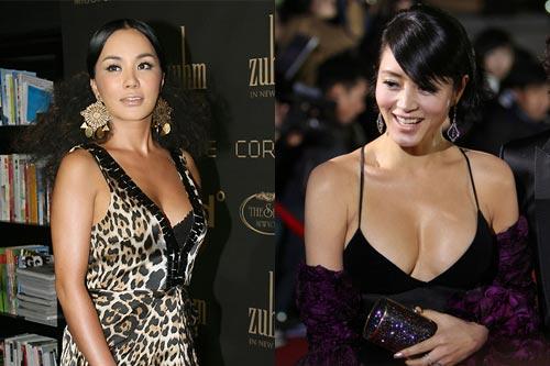 嚴正花(左)與金惠秀(右)都是韓國豪放熟女的代表