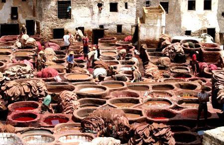 非斯老城中的居民生活