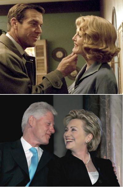 """银幕内外的""""克林顿夫妇"""""""