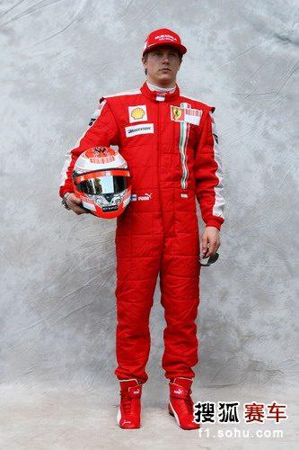 图文:2009赛季F1车手肖像照 法拉利车手莱科宁