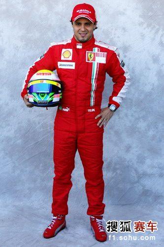 图文:2009赛季F1车手肖像照 法拉利车手马萨