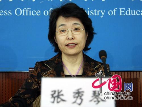 教育部国际合作与交流司司长张秀琴 摄影:中国网 杨楠