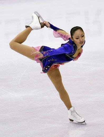 图文:花滑世锦赛女单短节目 日本选手安藤美姬