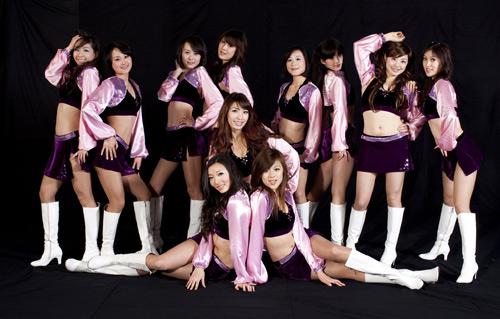 北京美女啦啦队宣传照组图