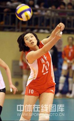 图文:新一届中国女排群芳谱 主攻楚金玲