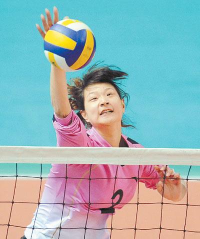 河北队球员尹萌首次入选国家女排。