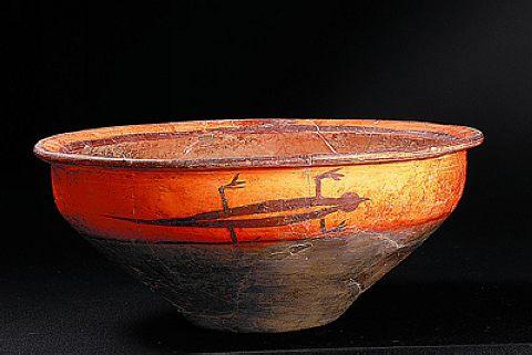 杨官寨出土的蜥蜴纹彩陶盆
