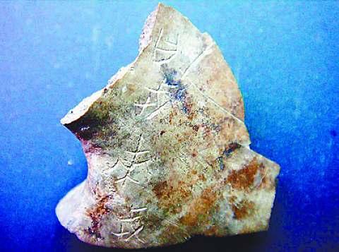 周公庙遗址出土的甲骨