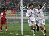 图文:[中超]天津2-0重庆 双方表情各不同
