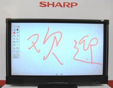 夏普展出全球最大4K×2K超高分辨率液晶显示器