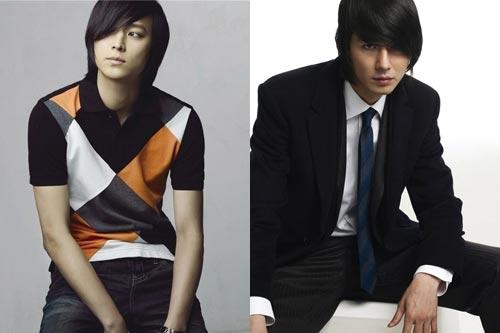 姜东元(左)赵寅成(右)等一线男星都曾是F4候选人
