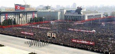 朝鲜10万军民集会庆祝卫星发射成功