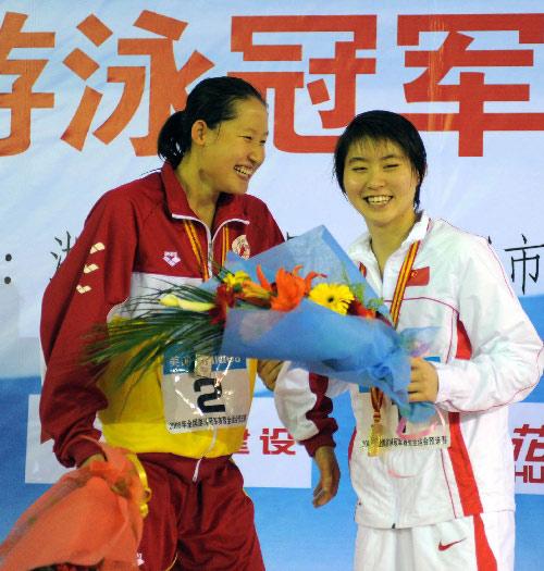 焦刘洋(右)与刘子歌