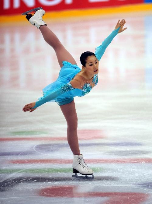 图文:全运会女子单人滑赛况