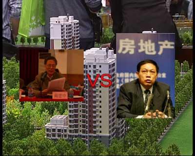3月31日北京市社会科学院发布《北京蓝皮书》系列报告认为北京目前的房价仍在上涨,到2010年大量保障性住房上市后房地产市场才会出现真正的降价;两天之后,任志强就在其博客发表从住房是否算是刚性需求等四个方面质疑了《北京蓝皮书》的观点;随后戴建中也迅速撰写了一篇文章反击任志强的质疑,一场关于如何对房价进行科学统计以及房价走势的辩论激烈上演。