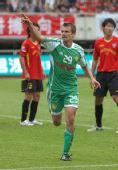 图文:[中超]成都0-2北京 大格庆祝进球