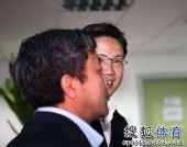 图文:足协新副主席上任 林晓华儒雅风范