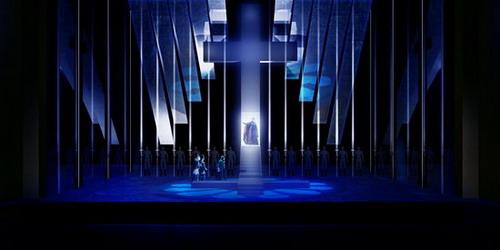 话剧舞台设计效果图; 《托斯卡》舞美揭晓新帅携六主演移师北京(图)