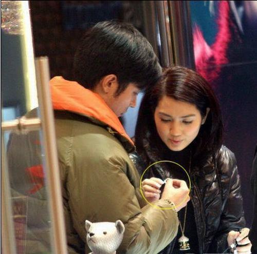 组图:洪欣宣布六月做新娘 比新郎张丹峰大11岁