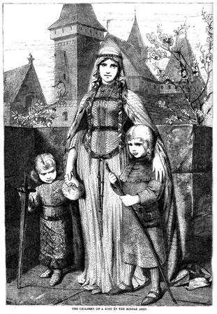 所以,在中世纪初期,欧洲人的衣着简朴,平民和贵族的服装式样也基图片