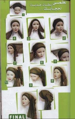 头巾系法步骤演示图片