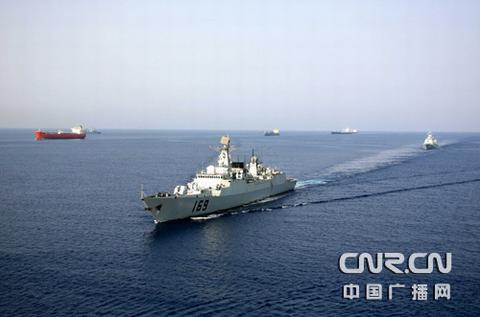 中国海军护航编队 李唐摄