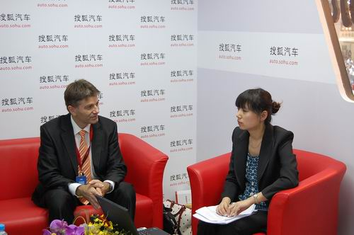 标致中国总经理梅野接受搜狐采访