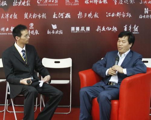祁玉民接受搜狐汽车专访。