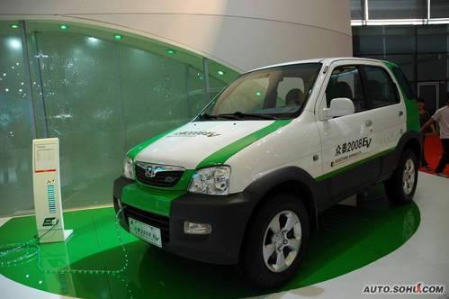 众泰 2008EV 实拍 外观 国内首发 车展上市 自主车 新能源车 家用 5-10万 图片
