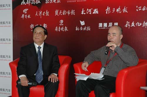 中国重型汽车集团有限公司副总经理、研究员级高级工程师王文宇做客上海车展搜狐访谈室