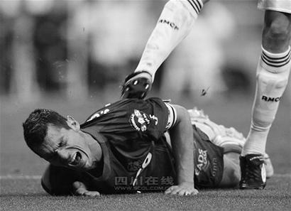 皇马后卫佩佩情绪失控 向赫塔菲队球员拳打脚