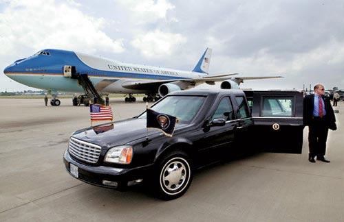 """资料图:美国总统专机""""空军一号"""""""