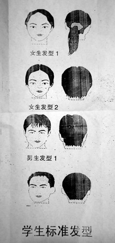 重庆一拖把定雷人班规:刘海过眉罚买初中(图)-有民办初中那些街厚图片