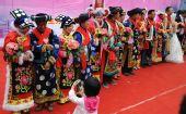 北川20对重组家庭新人举行集体婚礼(组图)