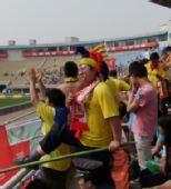 图文:[中超]陕西1-0胜北京 狂热的球迷
