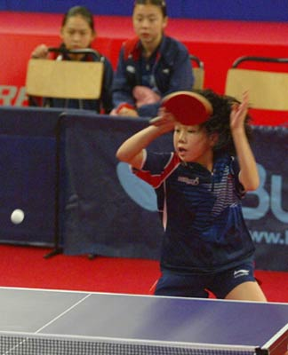 组图:华裔小美女出征世乒赛