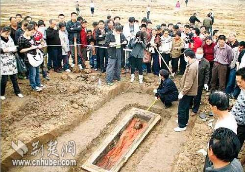 组图 湖北荆州出土保存完好古尸 搜狐新闻