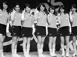 日本乒乓美女7人组