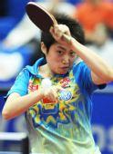 图文:郭跃4比0战胜韩国选手石磊 回球动作舒展