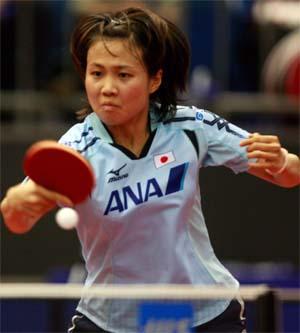 日本一姐平野早矢香与搭档福原爱一起倒在了女单第二轮比赛中