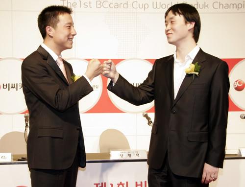 图文:BC卡杯古力将决战赵汉乘 赛前