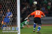 图文:[中超]北京0-0上海 邱盛炯出击