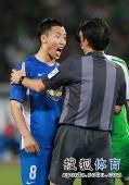 图文:[中超]北京0-0上海 陈涛怒吼