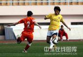 图文:[中超]青岛2-1陕西 李毅大帝带球