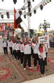 图文:埃及站开幕式精彩 东道主埃及队入场
