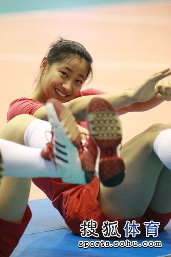 王茜轻松训练