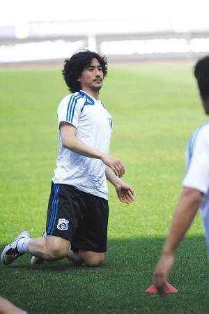 大连队外援韩国球星安贞焕。张昊 摄
