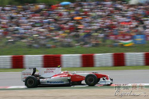 图文:F1西班牙大奖赛正赛 格洛克在比赛中
