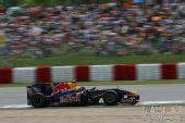 图文:F1西班牙大奖赛正赛 维特尔在比赛中